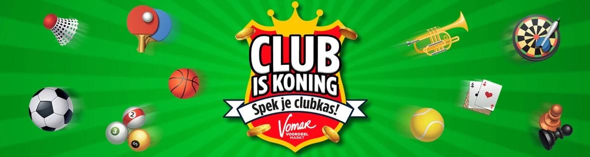 Spek je clubkas met Club is Koning sparen van Vomar!